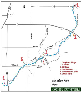 manistee river map